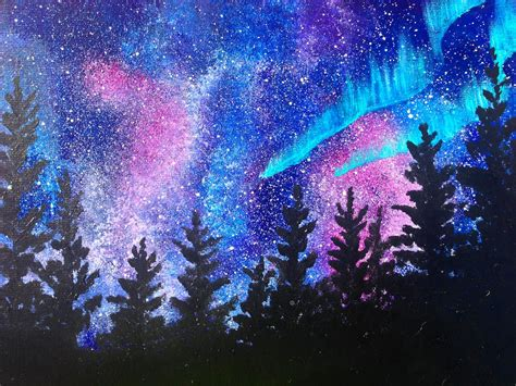 acrylic paint or watercolor beginners learn to paint acrylic borealis