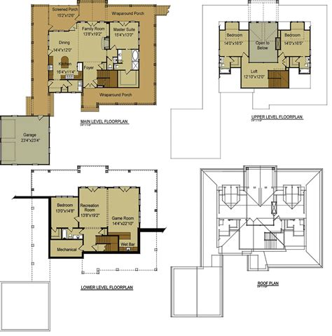 open floor house plans with loft lake house plans with loft cottage house plans