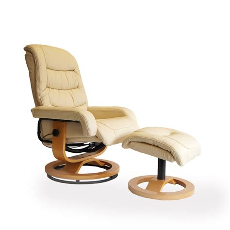 leather swivel recliner chairs venice chair footstool