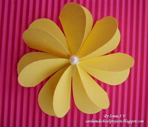 how to make craft flowers for cards crafts projects flat folding punch