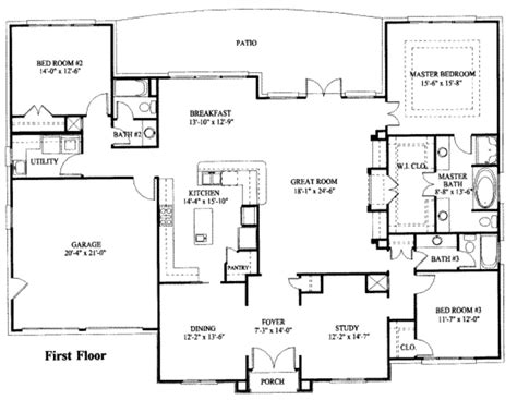 one story house blueprints simple one story house plan house plans 1 story house plans with basement vendermicasa