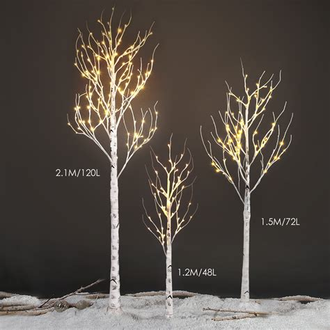 pre lit twig lights 2ft 4ft 5ft 7ft pre lit led birch