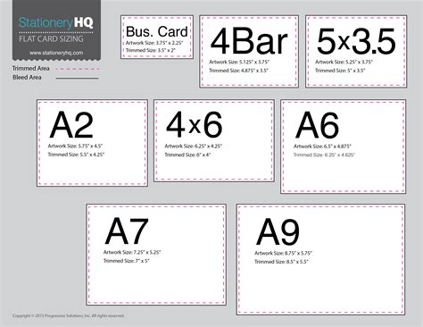 card sizes for card white space wholesale printing by stationeryhq