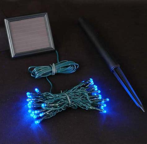lights solar powered blue solar lights with 50 bulbs novelty lights inc