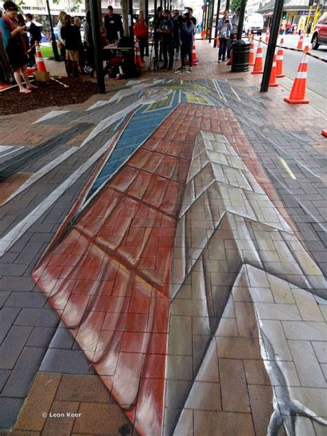 chalk paint dunedin 3d streetpainting and by chalk artist keer