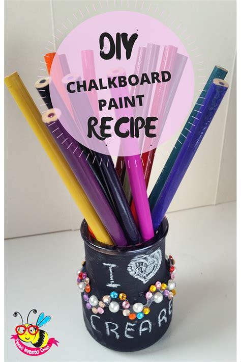 chalk paint ricetta fai da te la pittura effetto lavagna