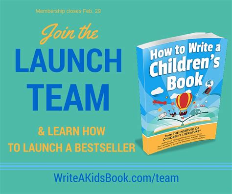 how to write a childrens picture book how to write a children s book launch team announcment