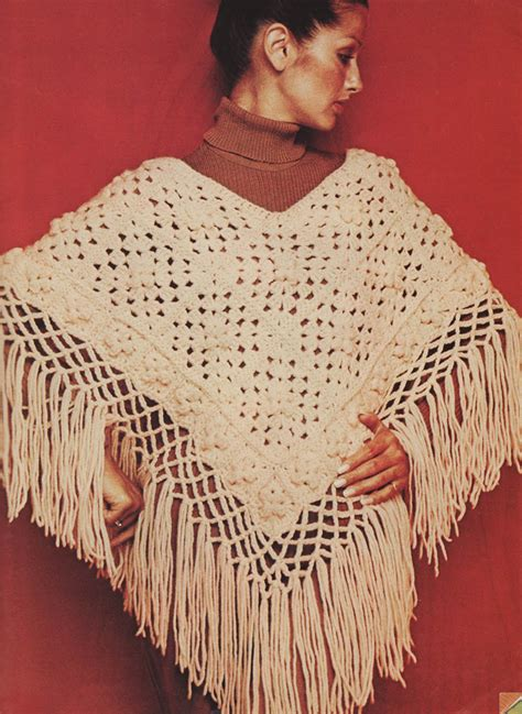 poncho pattern musings from marilyn 187 crochet a vintage 1973