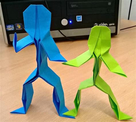 origami person origami stick by bonztee on deviantart