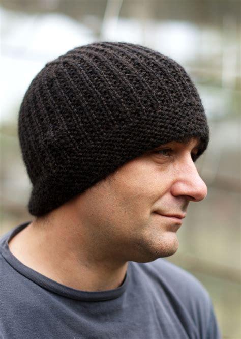 knit beanie mens geko mens beanie hat knitting kit