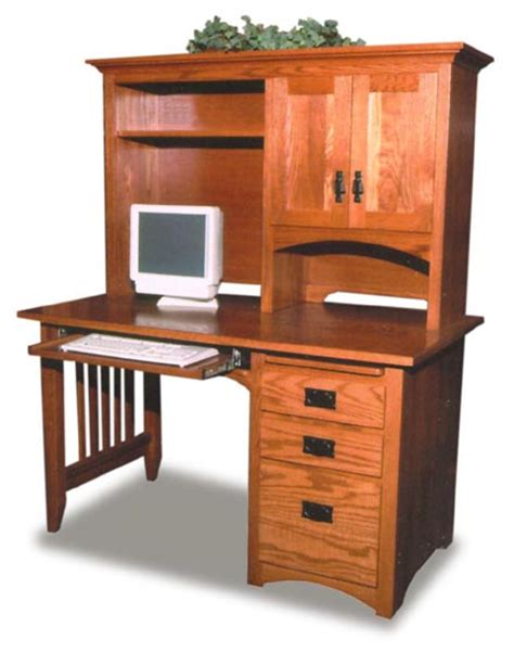 mission style computer desk with hutch mission style amish computer desk amish office furniture
