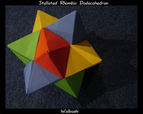 rhombic dodecahedron origami stellated rhombic dodecahedron by wolbashi on deviantart