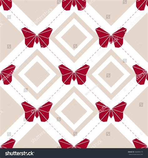 origami butterfly pattern seamless origami butterfly pattern background stock vector