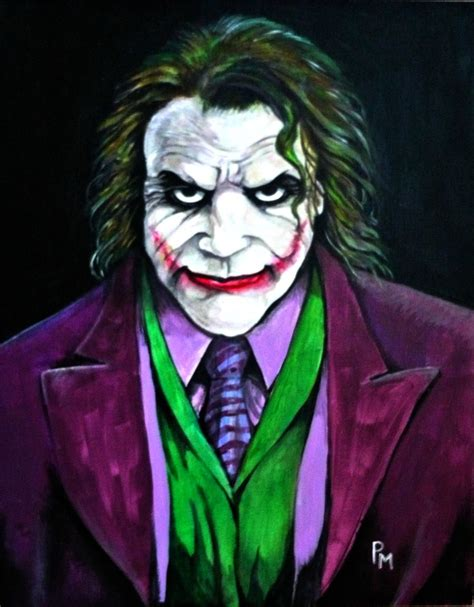 acrylic painting of joker joker painting by pm graphix on deviantart