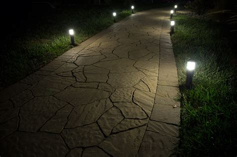 landscape lighting lumens landscape led path lights mini bollard style 1 watt 5 watt equivalent 22 lumens