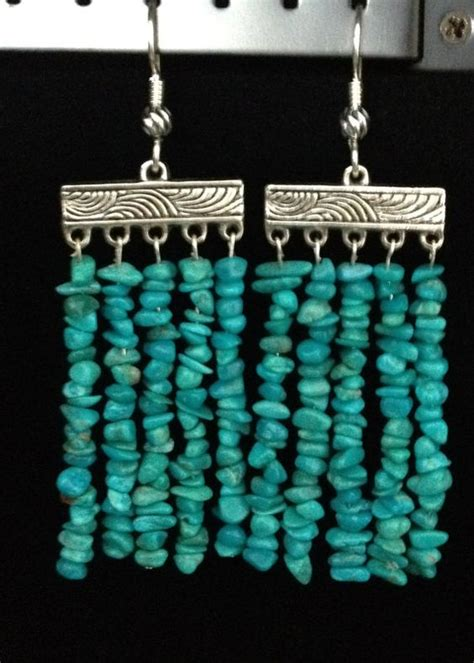 turquoise beaded curtains handmade genuine semi precious pebble turquoise bead