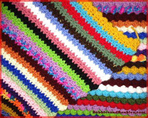knitting patterns using leftover yarn my never ending scrap yarn bobble blanket bobbles baubles