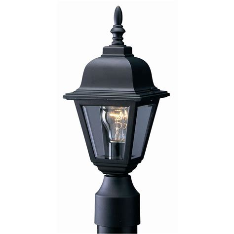 outdoor light fixtures home depot design house maple black outdoor die cast post