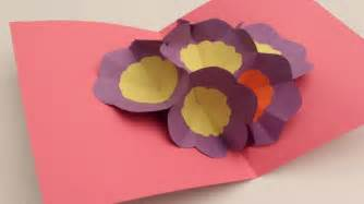 how to make a birthday card out of paper how to make a 3d flower pop up greeting card