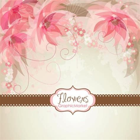 flower templates for card 5 flower designs and 3 floral card templates clipart for