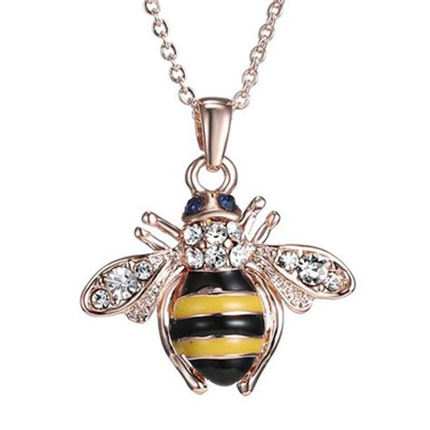 unique for jewelry free shipping golden bee pendant necklace unique