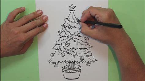 dibujos arboles navidad c 243 mo dibujar un 225 rbol de navidad how to draw