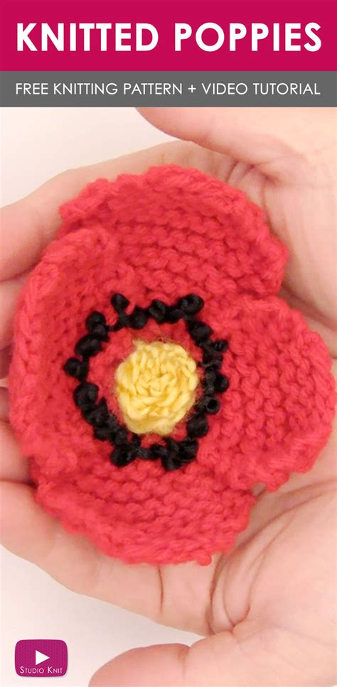 how to knit a poppy flower how to knit a poppy flower studio knit