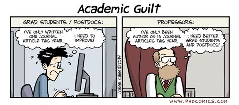 PHD Comics: Academic Guilt