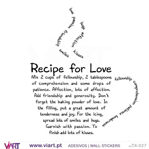 Blackboard Wall Stickers recipe for love wall stickers vinyl decoration viart