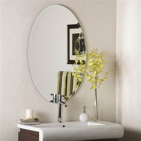 beveled mirrors for bathroom frameless mirrors 4 less oval rectangle square