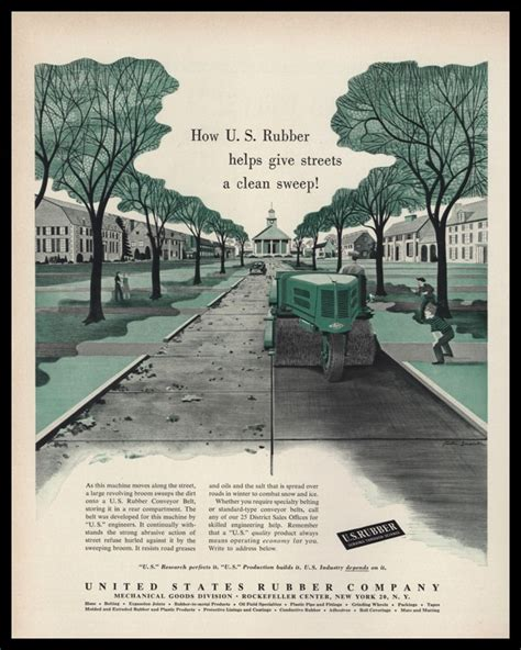rubber st vintage 1953 u s rubber co vintage ad sweeper vtg ads