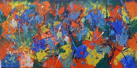 acrylic paint riot colour riot painting by judi goodwin