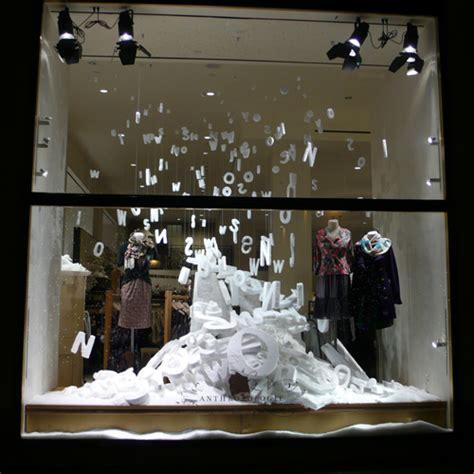 snow display anthropologie snow window display heartfish