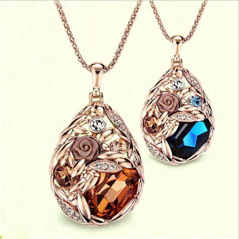 cheap wholesale for jewelry 18k gold teardrop necklace jewelry