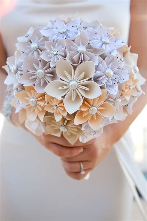 origami flower bouquet for sale unique alternative paper flower wedding by mandagirldesigns