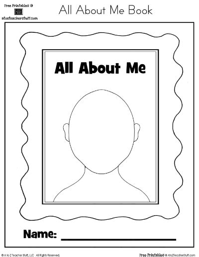 all about me picture books all about me printable book a to z stuff