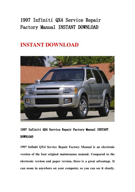 car owners manuals free downloads 1992 infiniti q lane departure warning service manual 1997 infiniti qx workshop manual free download 1997 1998 2001 infiniti qx4
