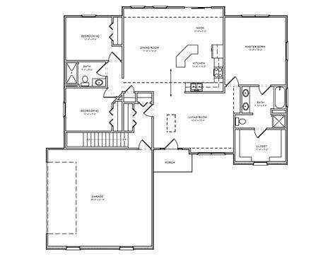 3 bedroom floor plans with basement brick ranch house plan 3 bedroom ranch house plan with