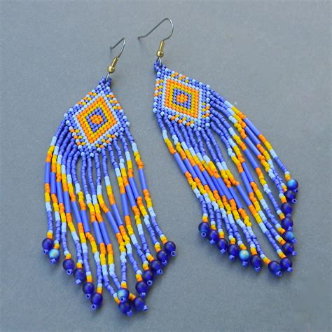 how to bead earrings with seed ethnic style seed bead earrings by anabel27 on deviantart