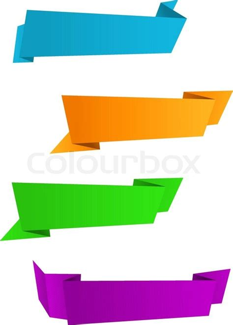 origami style set of web banners in origami style for web design