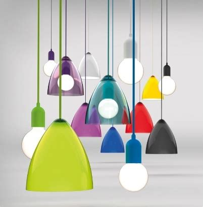 funky lights funky coloured pendants d 220mm