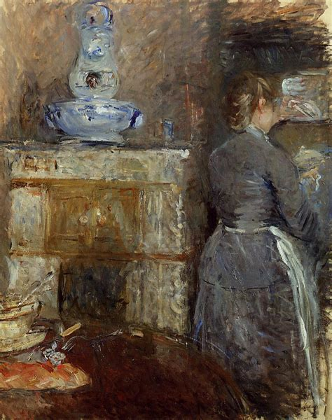 berthe morisot in the dining room the rouart s dining room berthe morisot wikiart org