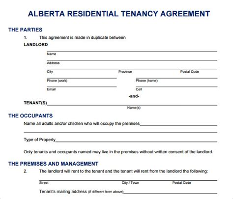printable lease agreement 13 documents download for
