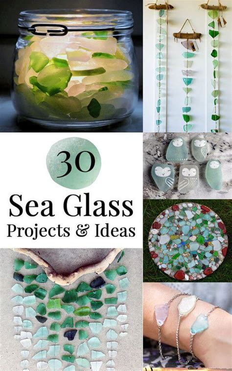 glass craft projects 30 sea glass ideas projects garden living and