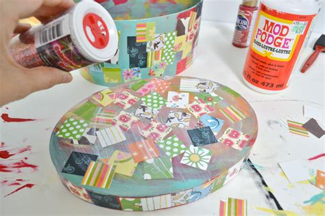 decoupage for children easy craft decoupage treasure box mod podge rocks