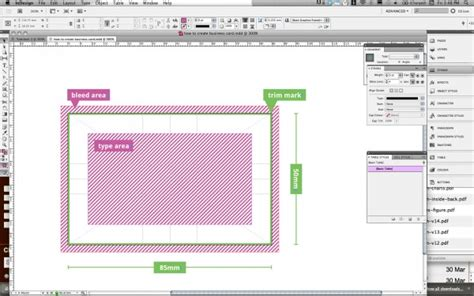 cards in indesign how to guide for a business card in adobe indesign
