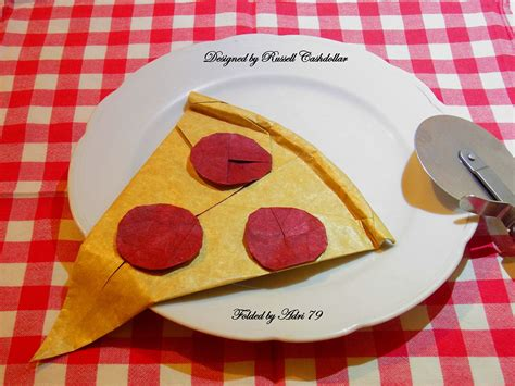 origami pizza delicious looking origami food that you can almost taste