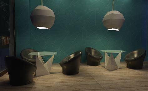 origami bar concept origami bar triline studio architecture 3d