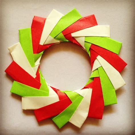 origami wreath my mini origami wreath origami