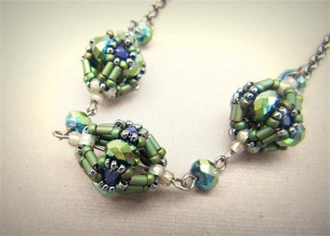 bead pendant patterns the caged bead by labellajoya jewelry pattern